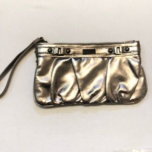 Express clutch metallic wristlet